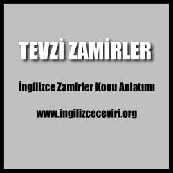 İngilizce Tevzi Zamirleri
